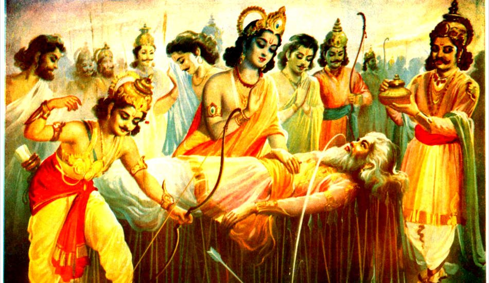 Bhishma on Arrow Bed
