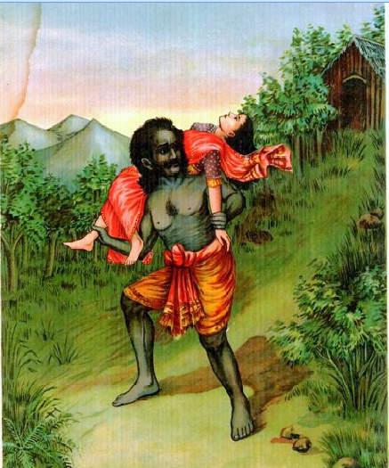 Ghatotkacha takes Subhadra to her Place