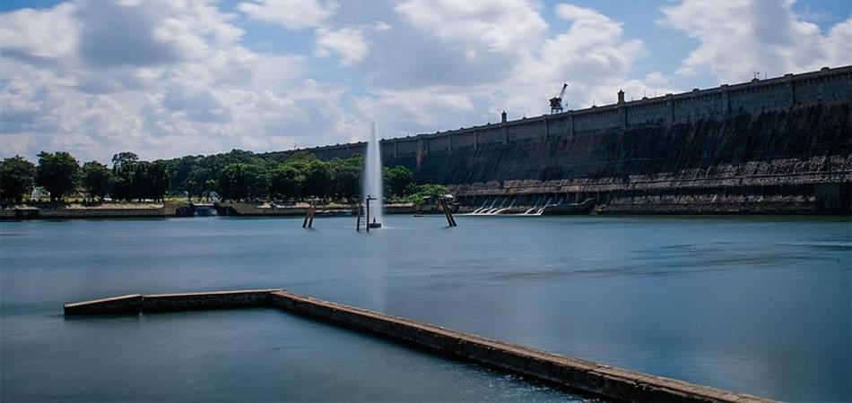 KRS Dam built by Sir M Visvesvaraya