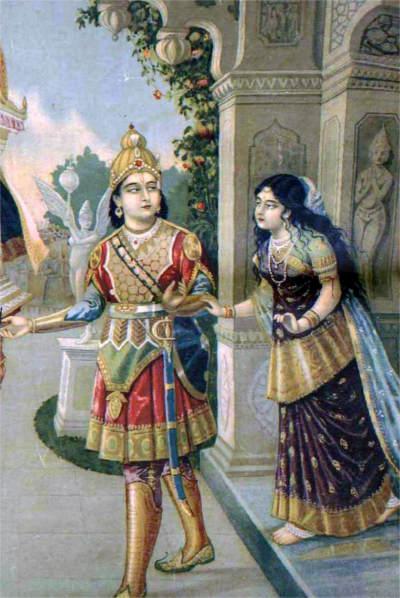 Uttara and Abhimanyu