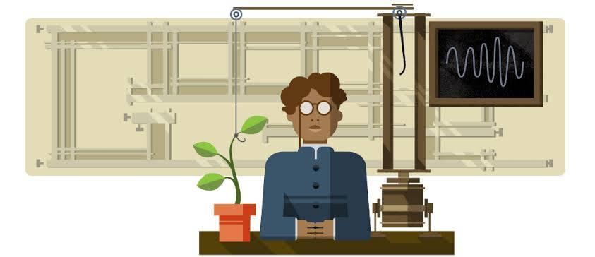 Google's doodle on JC Bose
