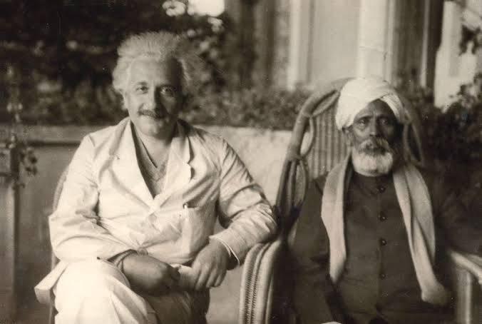 Dhondho Kesav Karve with Einstein