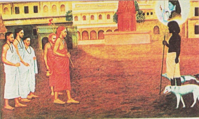 A so called untouchable teaching Adi Shankaracharya a great lesson