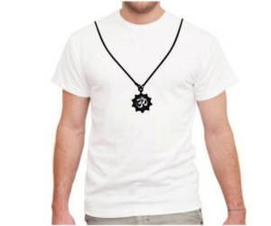 Aum Bead on T-Shirt