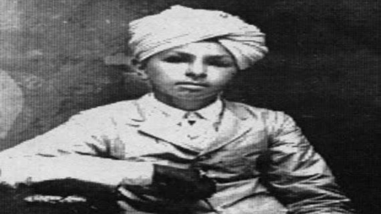 Bhagat Singh as a kid