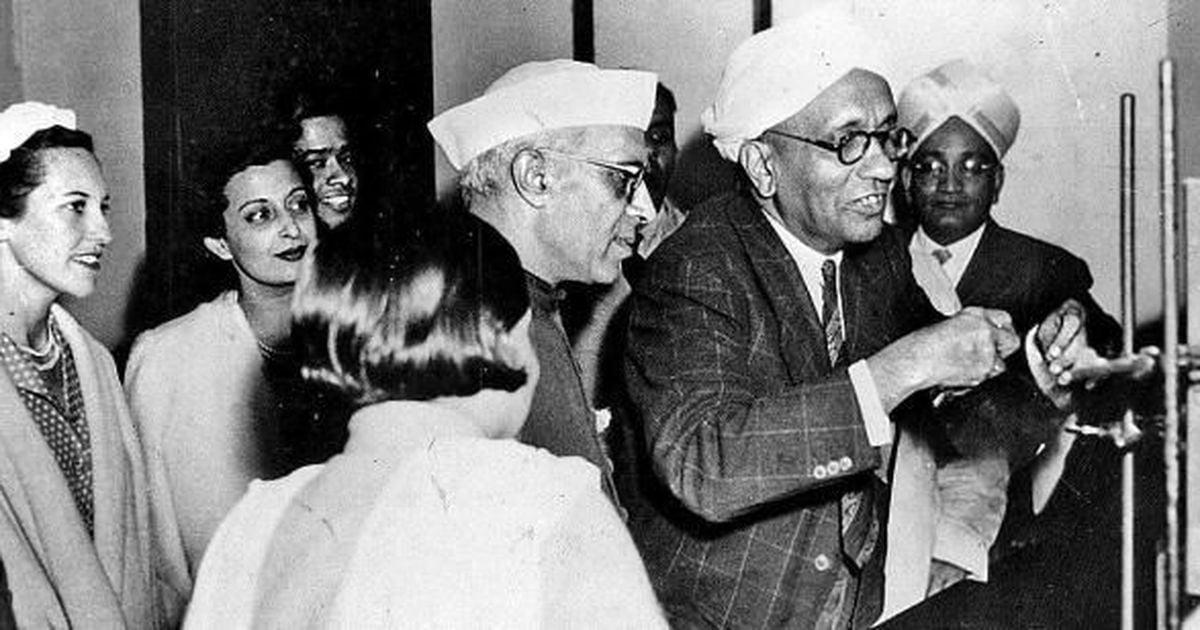 CV Raman and Nehru
