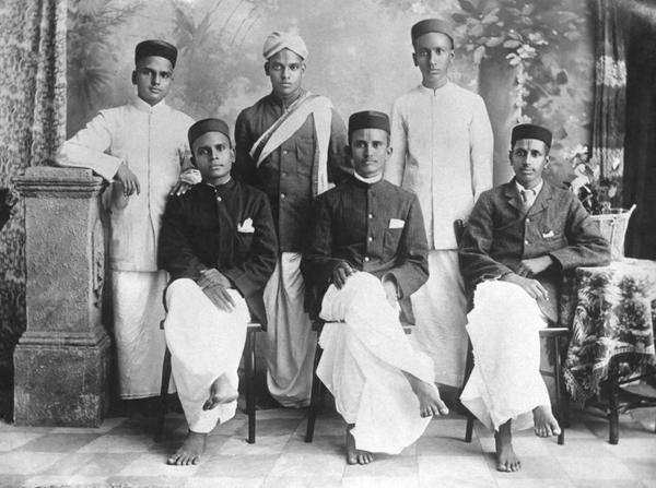 CV Raman with his classmates