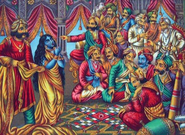 Game of Dice and Draupadi Disrobed