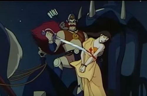 Indrajit enacts Killing of Sita