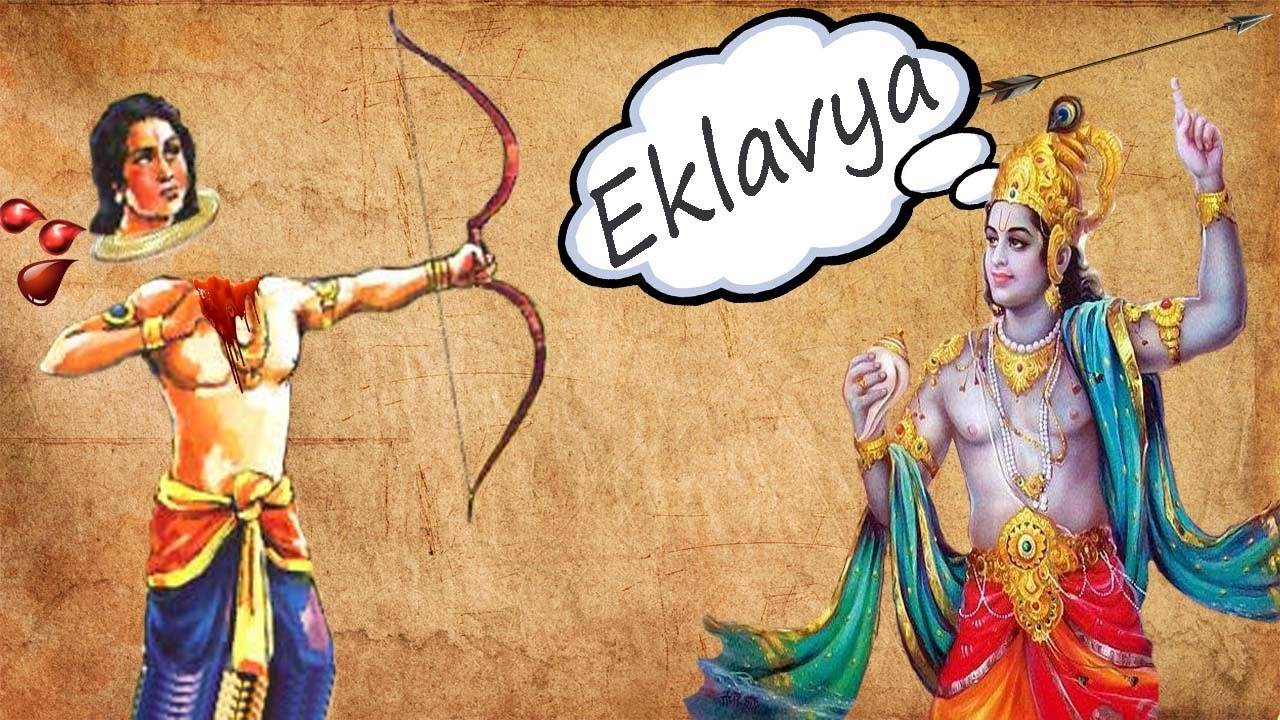Lord Krishna Kills Eklavya