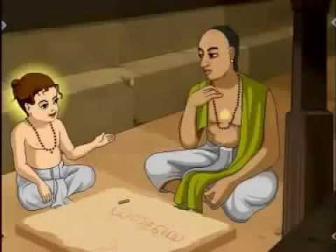 Madhvacharya as a kid correcting scholars
