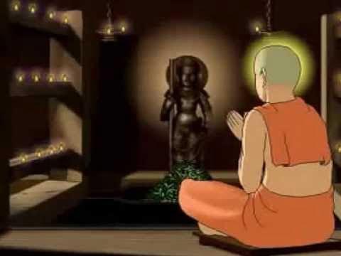 Madhvacharya worshipping Udupi Krishna