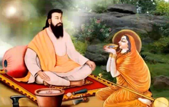 Meera Bai meets Guru Ravidas