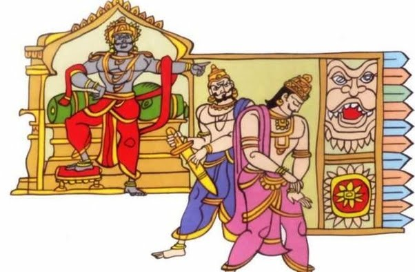 Ravana sending Vibhishana out