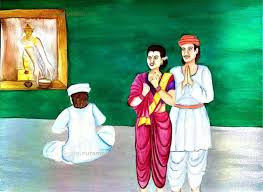 Sant Namdev with Wife