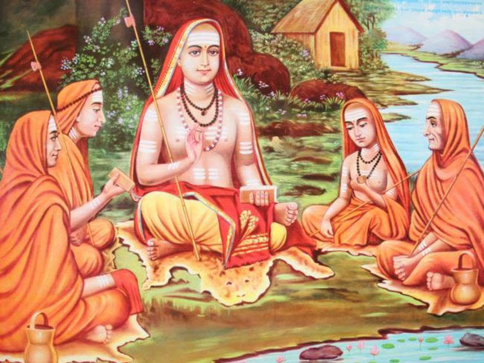 Shankaracharya and his four main disciples