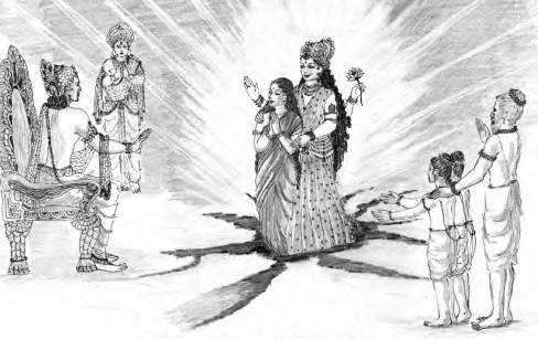 Sita returning to Earth