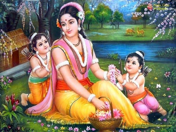 Sita with Lava and Kusha