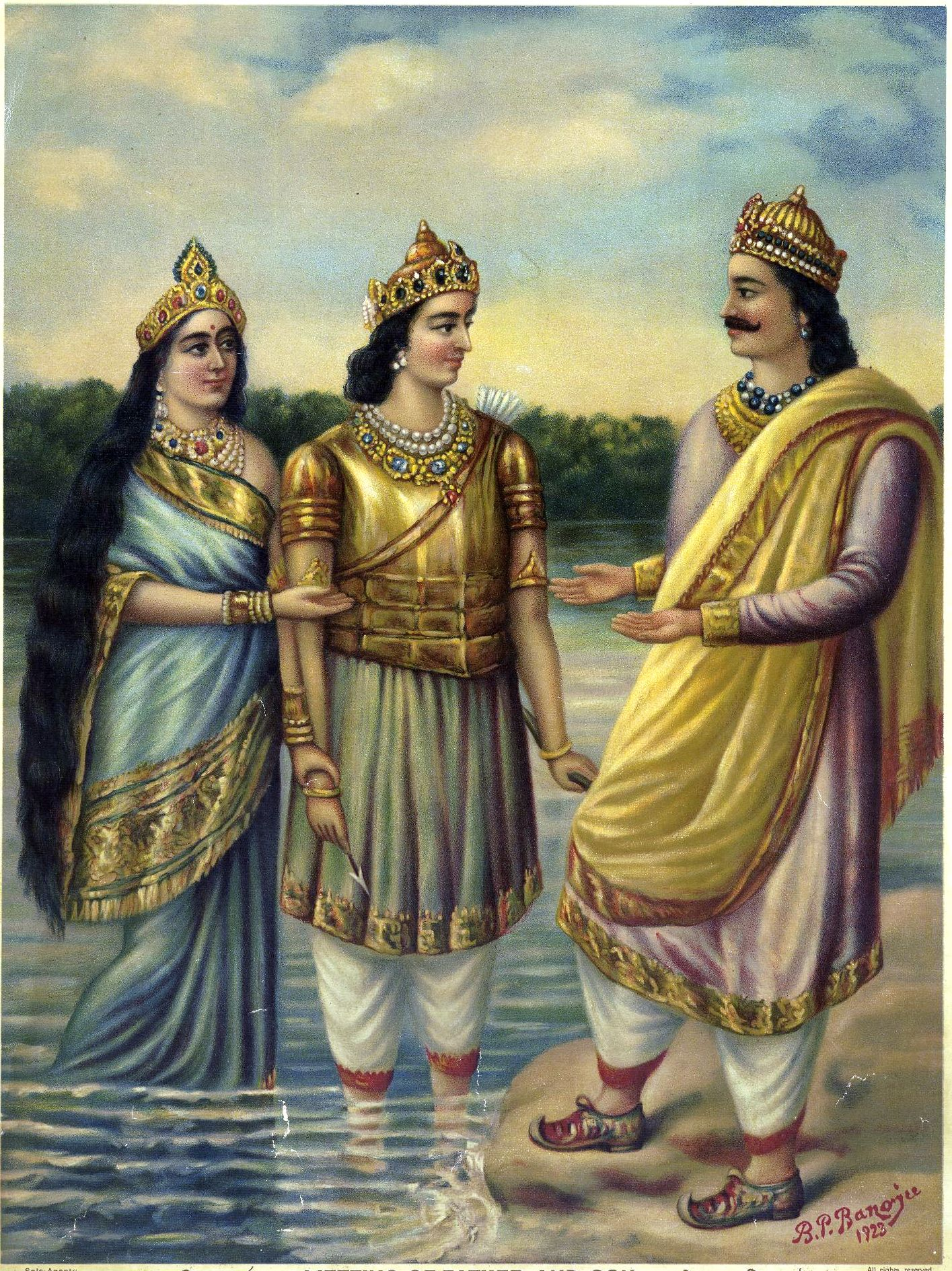 Ganga hands over Devavrata to Shantanu