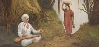 Tukaram Maharaj served food by his wife
