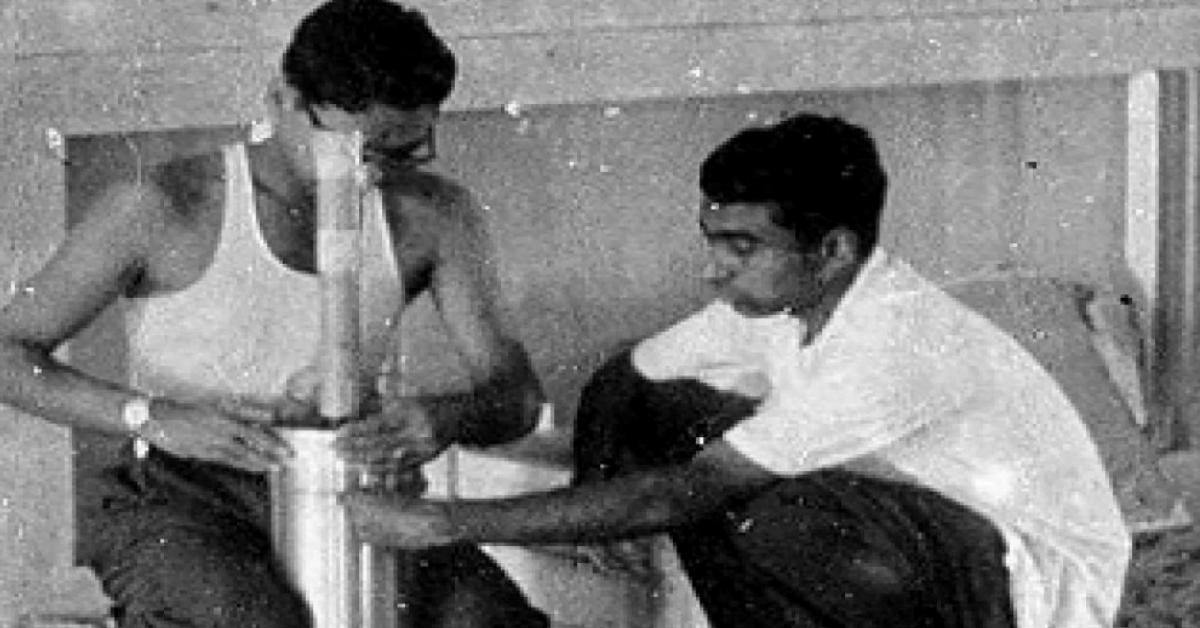 Vikram Sarabhai and ABJ Abdul Kalam working together