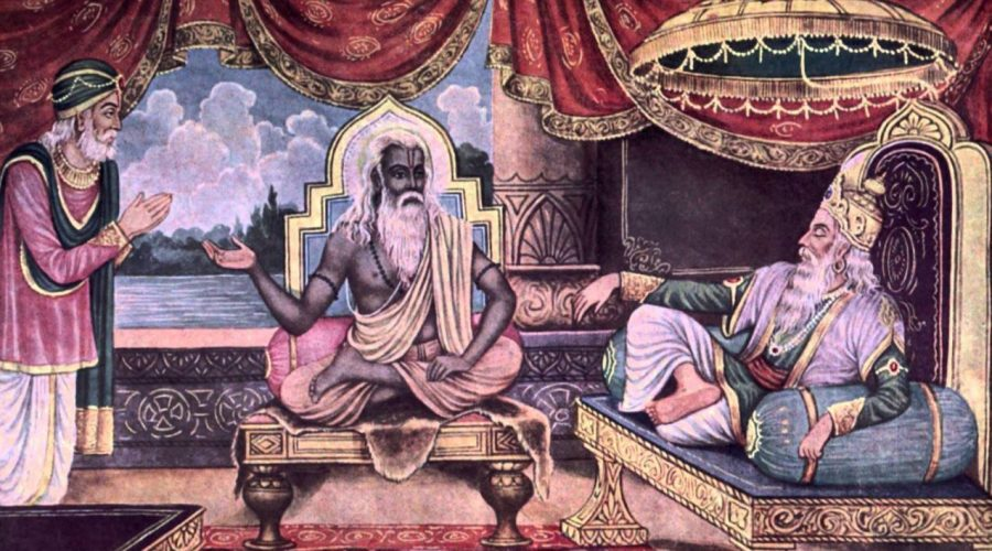 Vyasa advices Dhritarasthra and Vidura