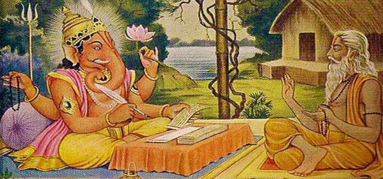 Vyasa and Ganesha
