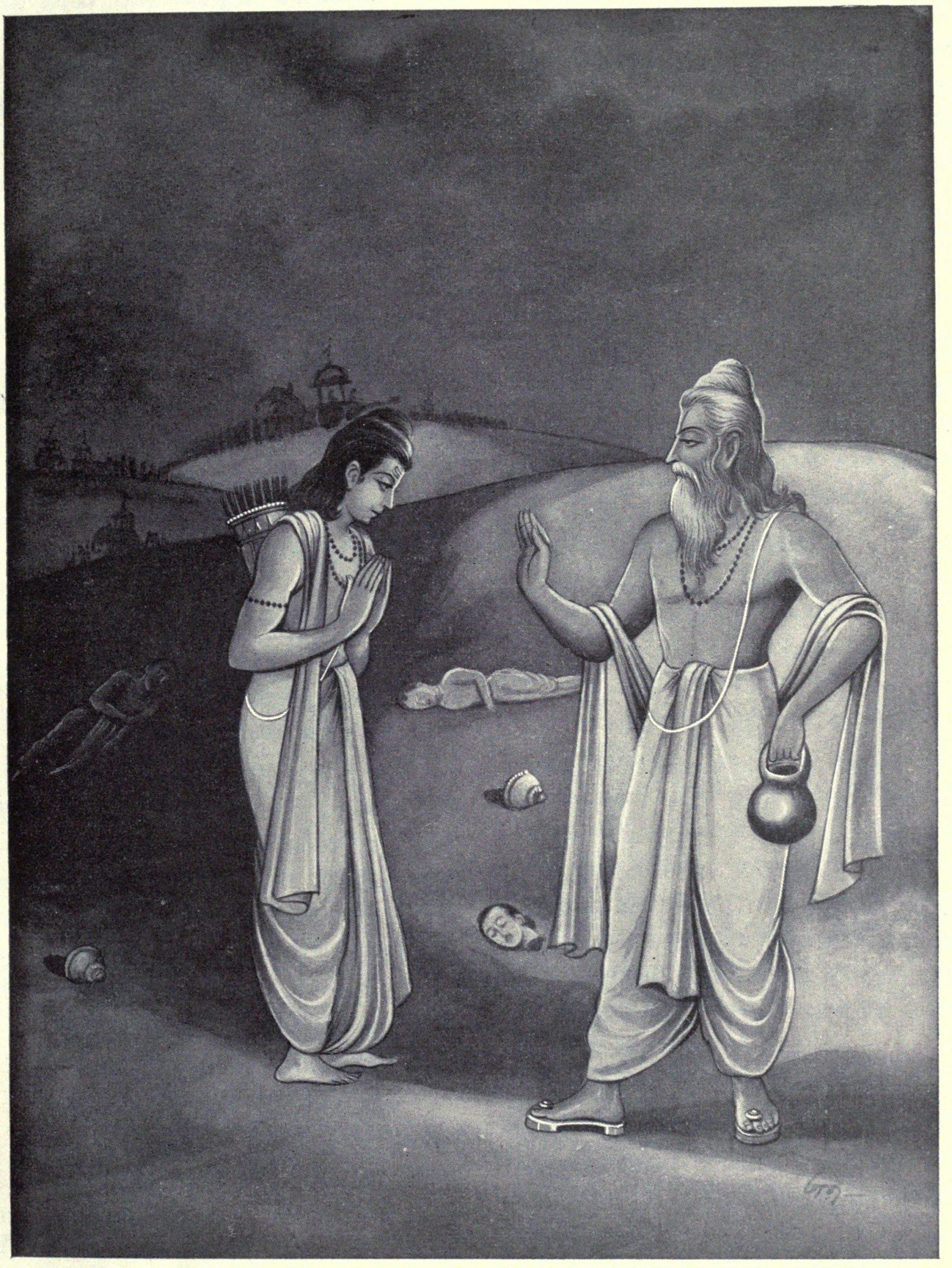 Vyasa consoling Yudishitra