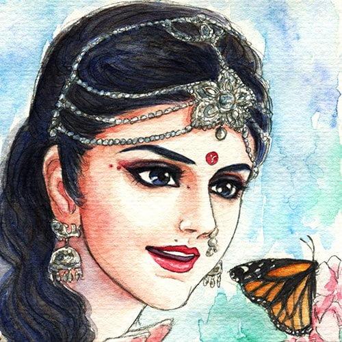 Beautiful Draupadi