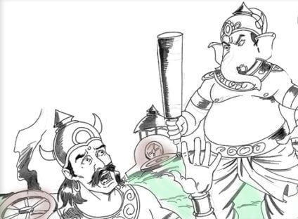 Ganesha teaches a lesson to Talasura