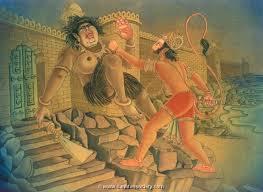 Hanuman enters Lanka