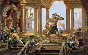 Hanuman meets Ravana