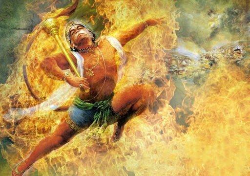 Hanuman setting Lanka afire