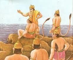Jambavan reminds Hanuman of his strength