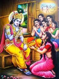 Krishna saved Draupadi and Pandavasa from Durvasa Muni