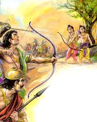 Lakshmana fights with Lava Kusha