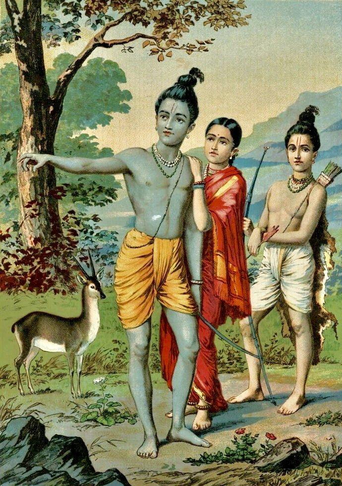 Lakshmana warning Rama about the deer