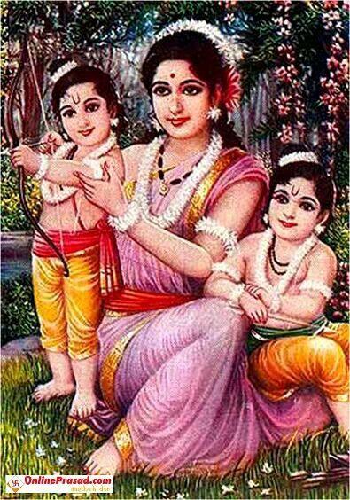 Lava Kusha with Sita Mata