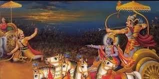 Lord Krishna enables Arjuna to kill Karna
