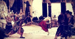 Lord Krishna kills Shishupala