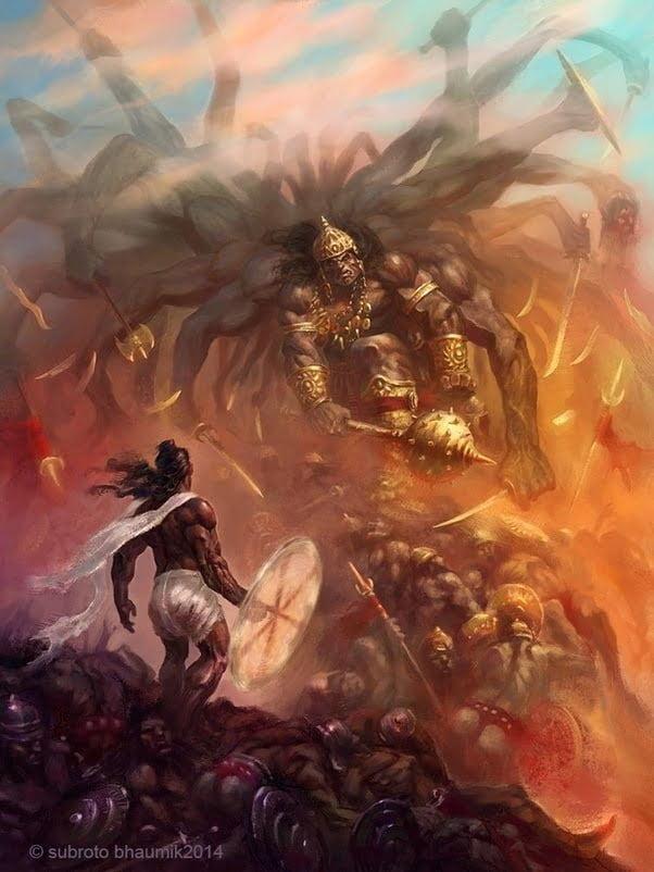 Parashurama Fights Kartaviryarjun