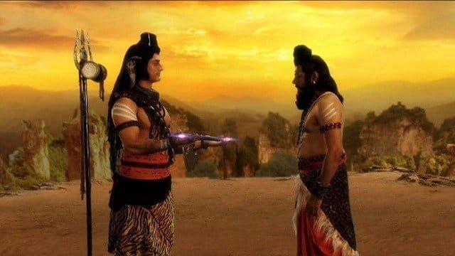 Parashurama obtains Axe from Lord Shiva