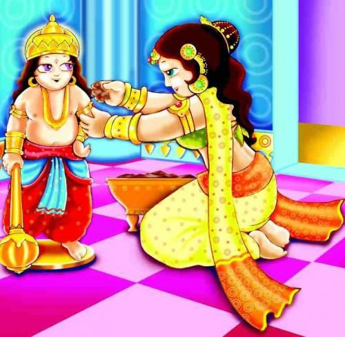 Parvati Creates Ganesha