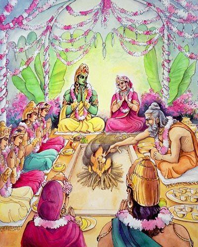 Rama Lakshmana Bharata Shatrughna Marriage