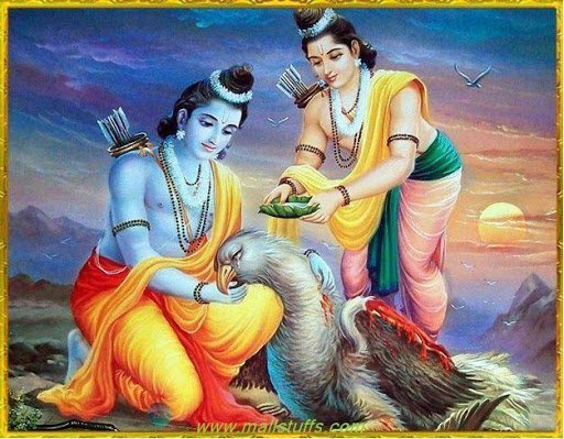 Rama Lakshmana Serve Jatayu