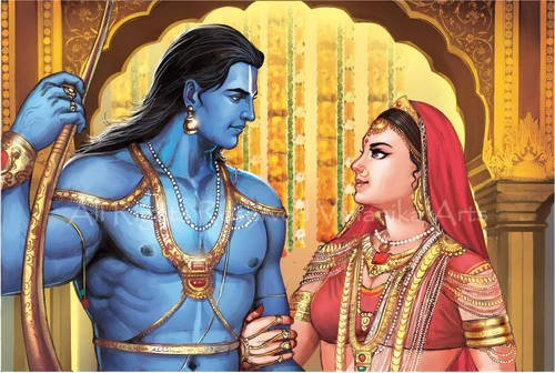 Rama and Sita conversing