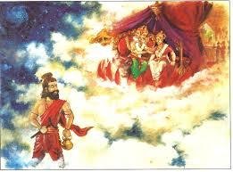 Sage Bhrigu meeting Lakshmi Narayana