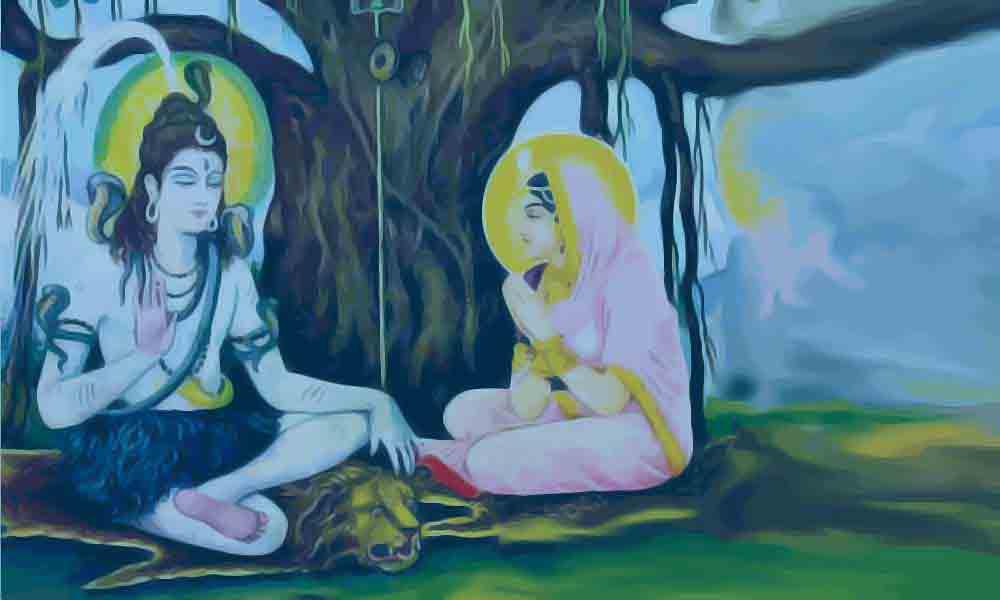 Shiva teaching Parvati