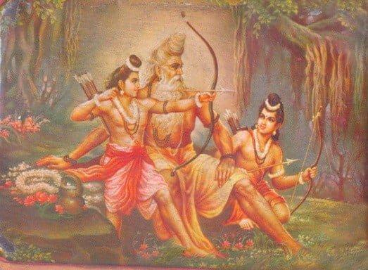 Valmiki teaching Lava Kisha