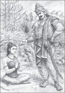 Vedavati and Ravana conversation